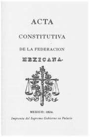 Promulgación de la Acta Constitutiva de la Federación Mexicana