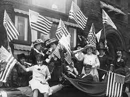 Nineteenth Amendment, guaranteeing women's suffrage, is ratified.