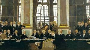 Treaty of Versailles is presented to the Germans.