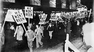 Prohibition begins.