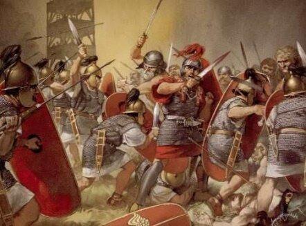 El resquebrajamiento romano