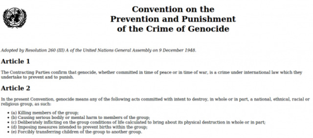Creation of International Genocide Convention