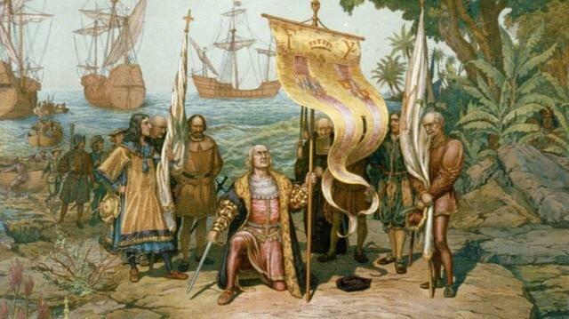 Colom arriba a Amèrica (quadre)