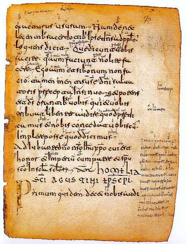 Primera manifestación escrita en lengua castellana