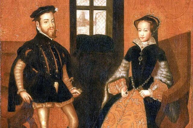 Transferència de corona de Nàpols i casament amb Maria Tudor