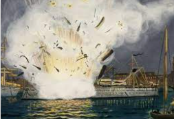 The explosion of the USS Maine