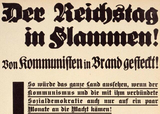Die Reaktion liess nicht lange auf sich warten. Die Kommunisten und die Sozialdemokraten waren als Feindbild bestätigt. Wären diese nur einen Monat an der Macht, würde das ganze Land so aussehen, so die Nationalsozialisten auf ihrem Flugblatt.