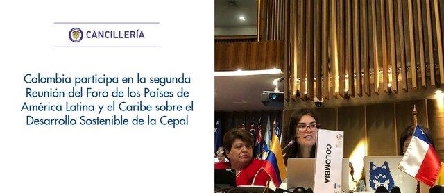 Segundo Foro de los países de América Latina y el Caribe sobre el Desarrollo Sostenible.