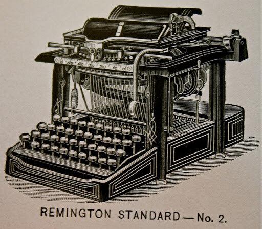 La primera máquina de escribir.
