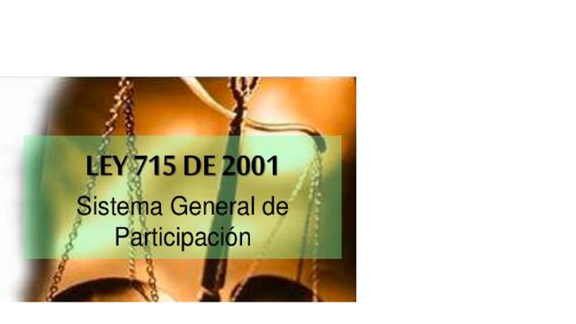 Ley 715 de 2001 en Colombia.