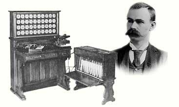 Invento máquinas para procesar tarjetas perforadas Jacquard