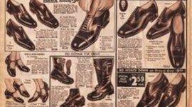 Mens Footwear from 1890-1930 timeline