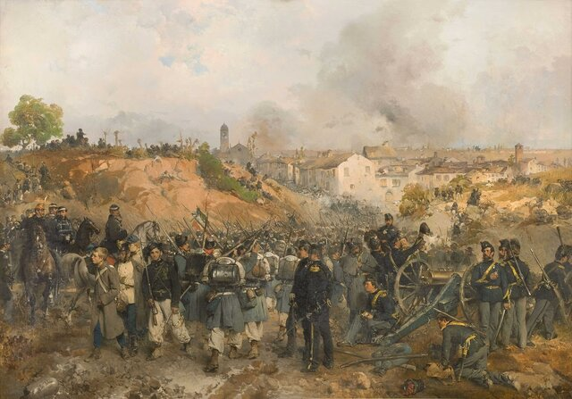 Guerra Franco-Austríaca/Guerra Italiana (26/Abr/1859-12/Jul/1859).