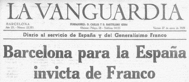 Ofensiva sobre Cataluña: Caída de Barcelona.