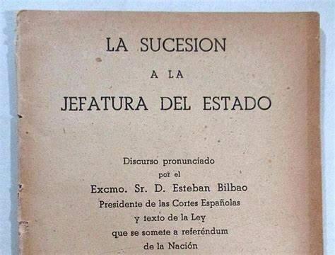 LEY DE SUCESIÓN DE LA JEFATURA DE ESTADO
