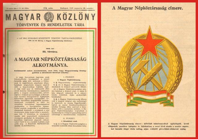 Az új alkotmány, népköztársaság kikiáltása - 1949