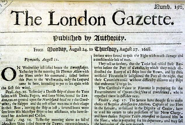 Newspaper (London Gazette)