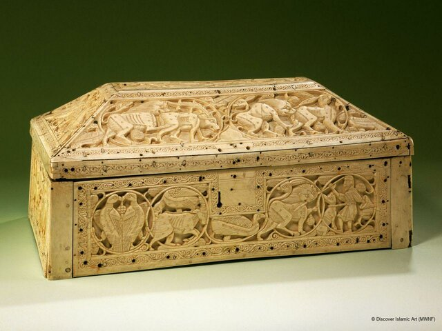 Arqueta de marfil (Museo Pergamo, Berlín). (Procede de Sicilia).