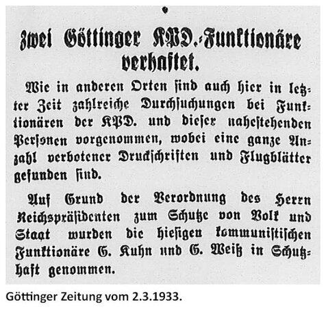 Die Verhafteten kamen in Schutzhaft und diese galt als Mittel gegen sogenannte Staatsfeinde aus Sicht der NSDAP. Landesweit wurden etliche Personen (darunter auch sehr oft Parteifunktionäre der KPD oder der SPD) weggesperrt.