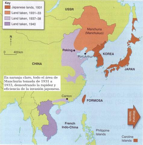 Invasión de Manchuria y Norte de China