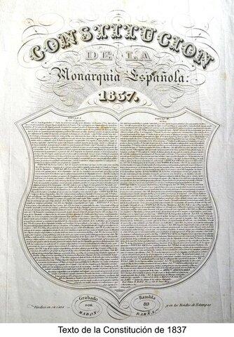 Creación de la Constitución de 1837