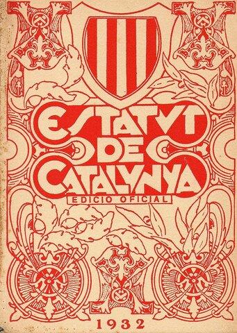 Estatuto de autonomía de Cataluña de 1932