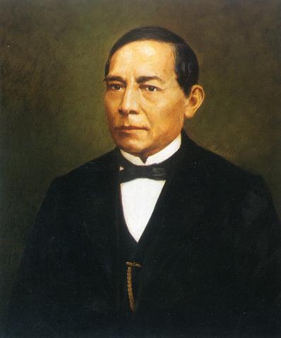 Juárez y su gabinete proclamo las leyes de reforma
