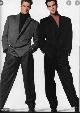80s/90's Men's Suit Trend