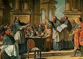 San Agustín viaja a Roma para enseñar