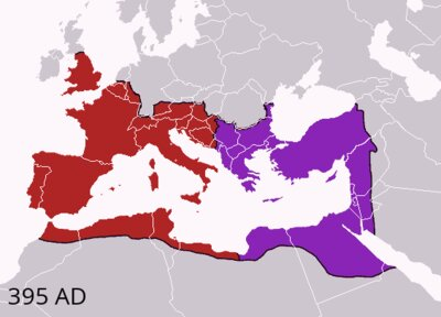 Muerte de Teodosio y reparto del Imperio