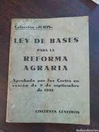 Aprobación de la Ley de Bases para la Reforma Agraria (Septiembre)