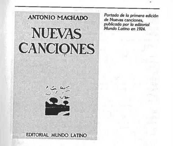 libro de poemas Nuevas Canciones