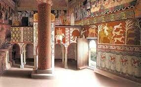 Mozárabe: Pintura al fresco. San Baudelio de Berlanga