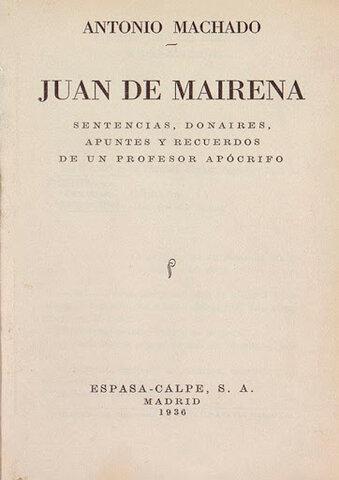 Publicación de Juan de Mairena