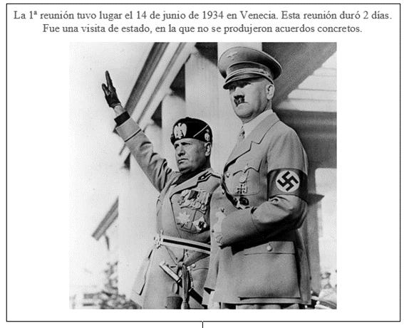 Hitler y Mussolini se reunieron por 1ª vez