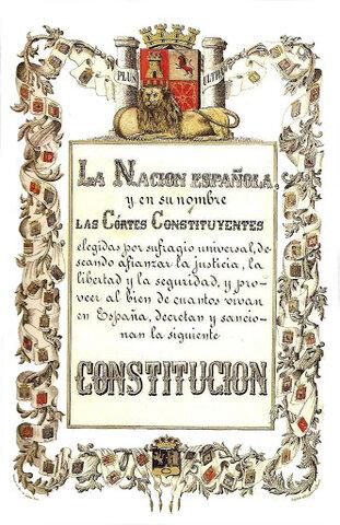 CONSTITUCIÓ DEMOCRÀTICA DE 1869