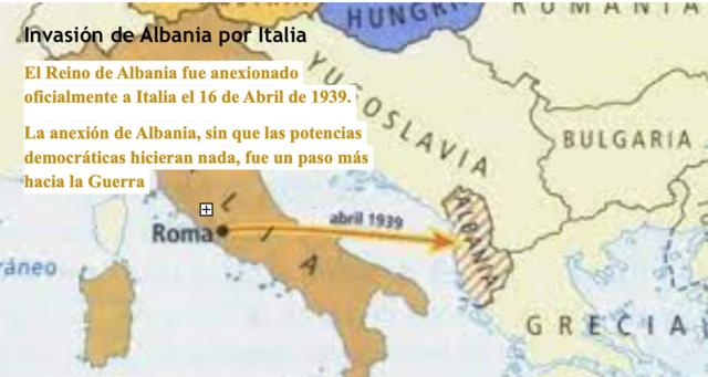 Invasión de Albania por Italia
