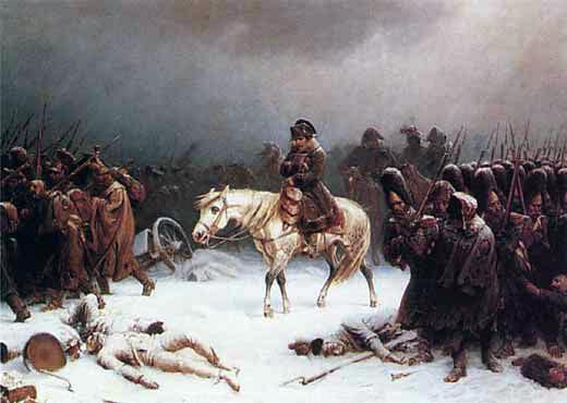 Napoleón inicia su invasión a Rusia a pesar del distanciamiento militar del imperio ruso del conflicto desde 1800, las tropas napoleónicas hacen entrar a Rusia en la guerra contra Francia.