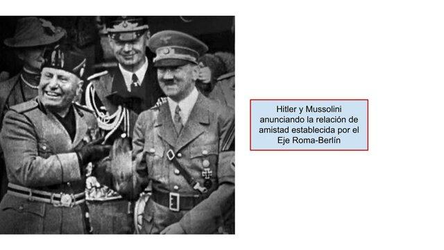 """Acuerdo de amistad """"Eje Roma-Berlín"""""""