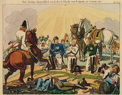Battle of Leipzig - Final day - Napoleon's surrender
