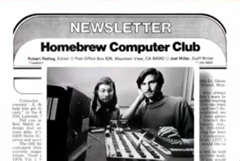 McCarthy invites the Homebrew Computer Club to meet at the Stanford AI Lab