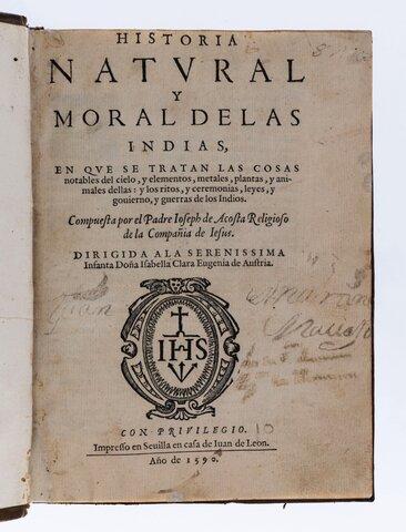 Historia natural y moral de las Indias, Gonzalo Fernández de Oviedo.