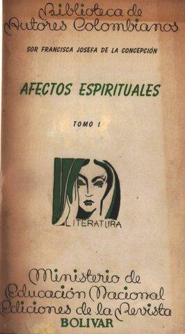 Afectos espirituales, Francisca Josefa de la Concepción del Castillo.
