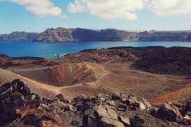 Erupción volcánica (Santorín)