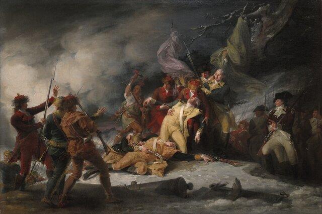 Départ des troupes révolutionnaires de la Province de Québec.