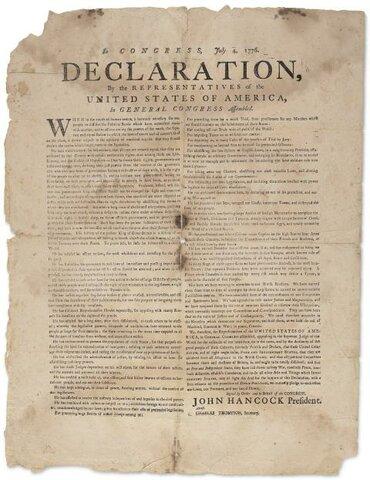 Déclaration d'indépendance.