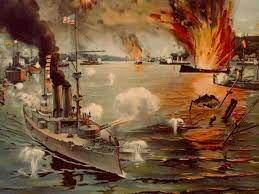 Destruction of the Spanish fleet in Cuba