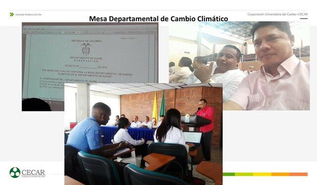 Mesa Departamental de Cambio Climático