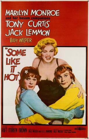 """Some Like It Hot. """"Con faldas y a lo loco"""" - Protagonista Marilyn Monroe."""
