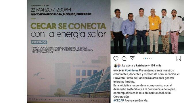 CECAR SE CONECTA CON LA ENERGIA SOLAR